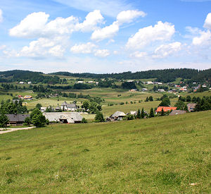 View on Ibach in the Southern Black Forest